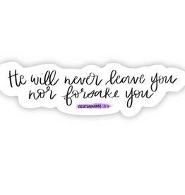 Big Moods Deuteronmy 31:6 sticker