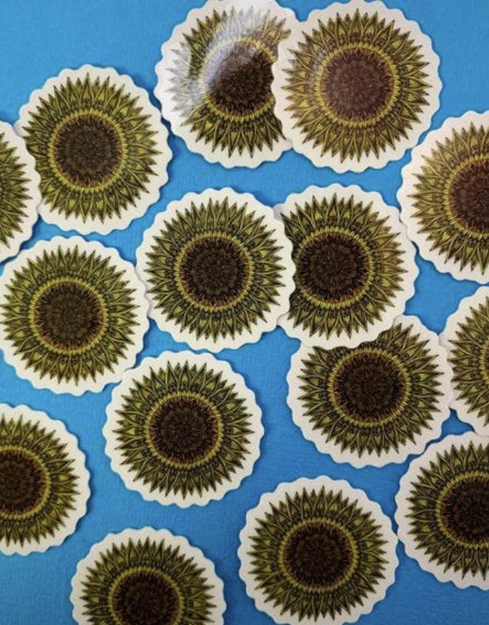 Mini sunflower sticker (ms9)