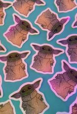 Baby Yoda mini sticker (ms6)