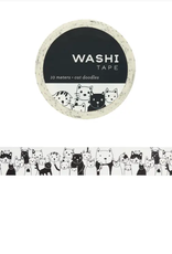 Girl of All Work Cat doodles washi tape