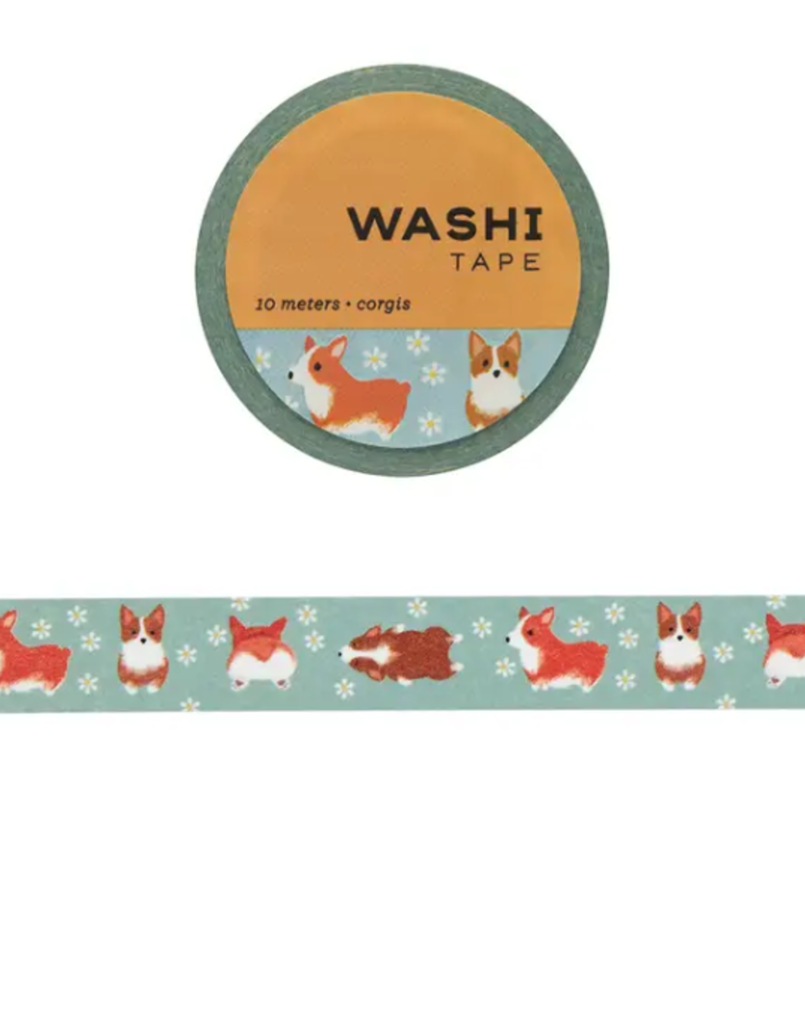Girl of All Work Corgis washi tape