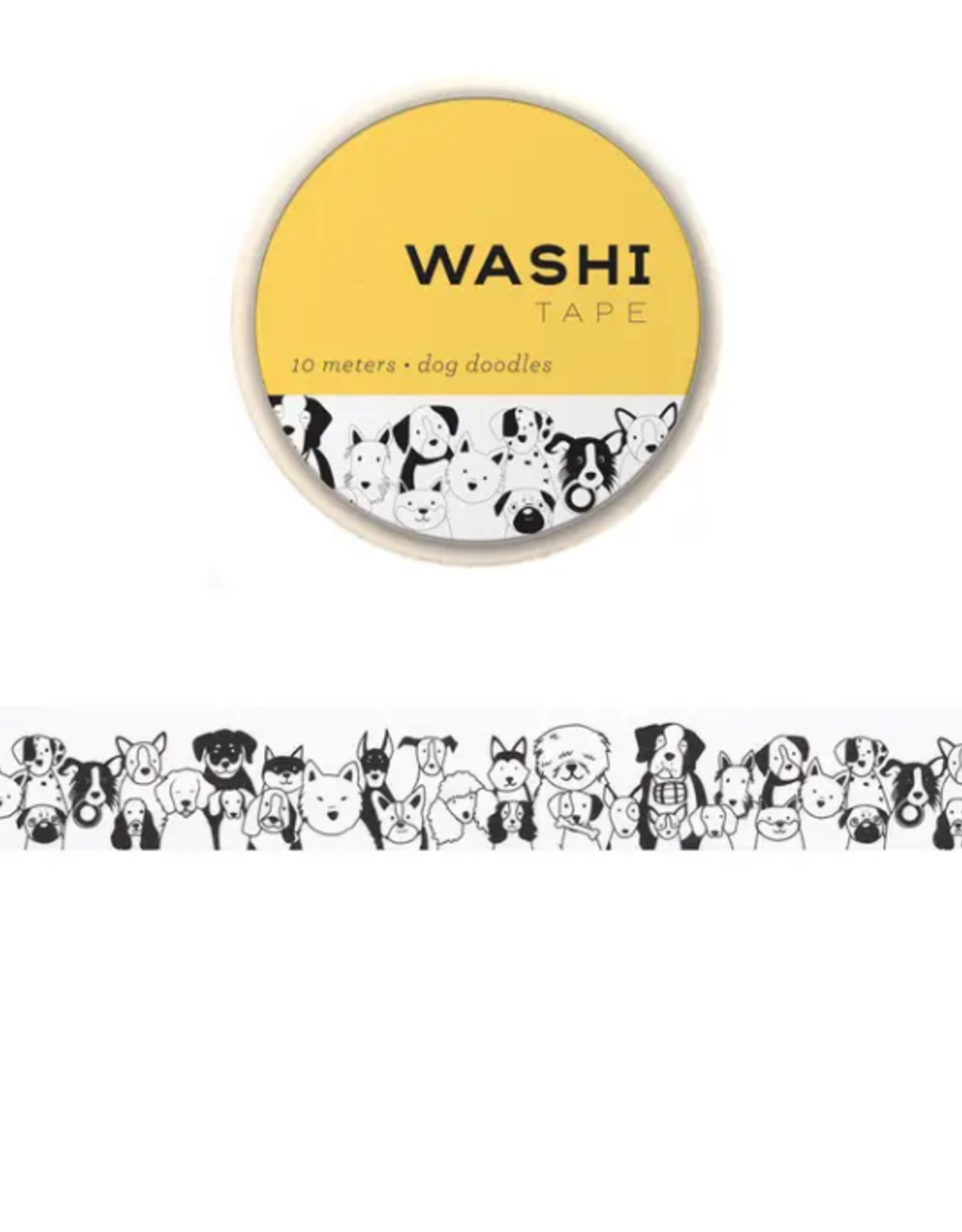 Girl of All Work Dog doodles washi tape