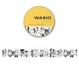 Girl of All Work Dog doodles washi tape