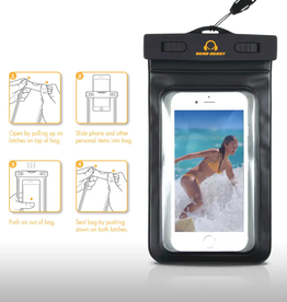 Waterproof Phone dry bag- black