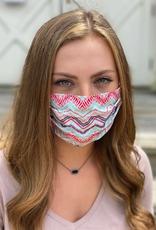 Salt and Palms Queens Chevron face mask