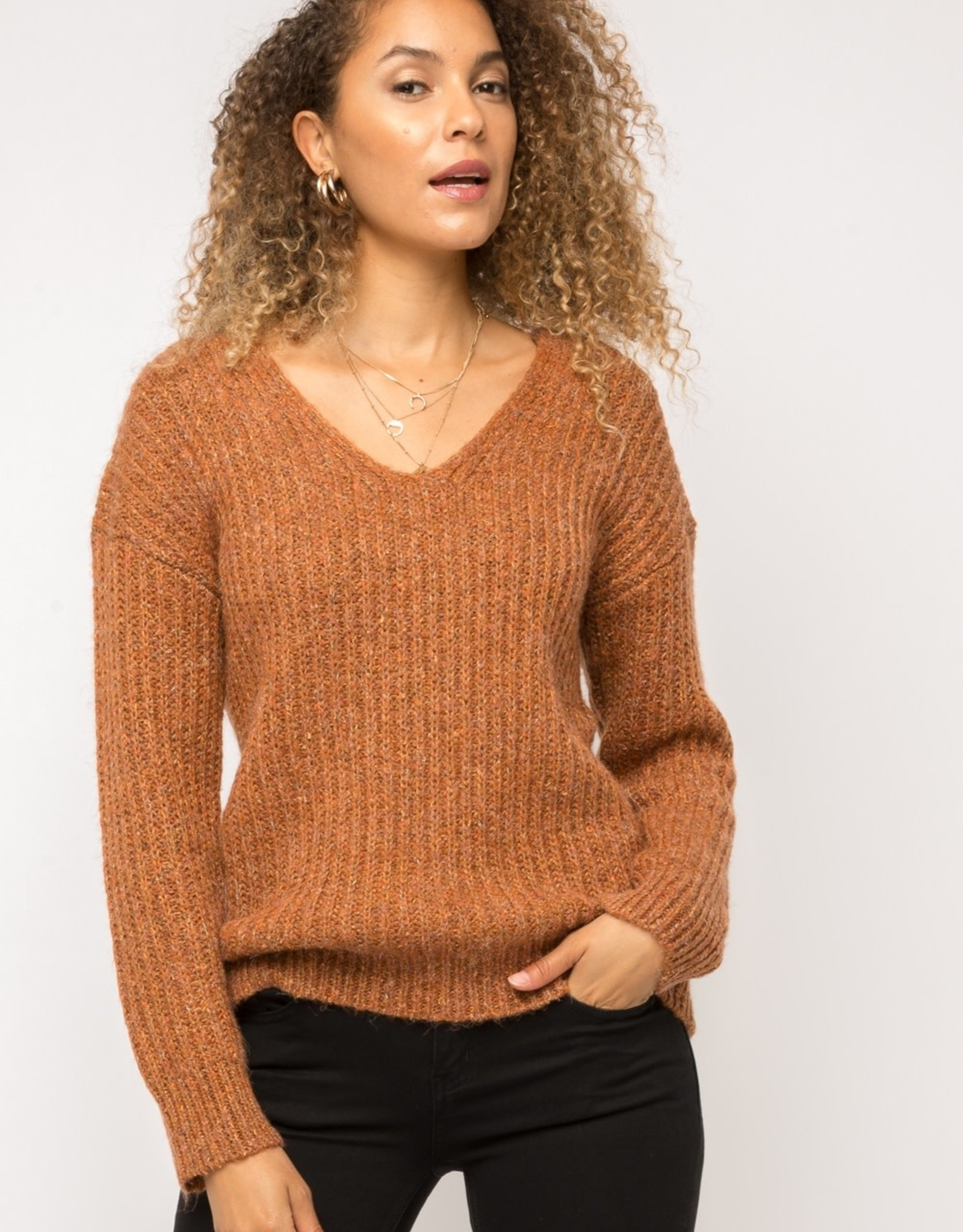 Rust pullover sweater