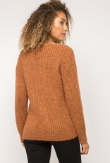 Rust pullover sweater