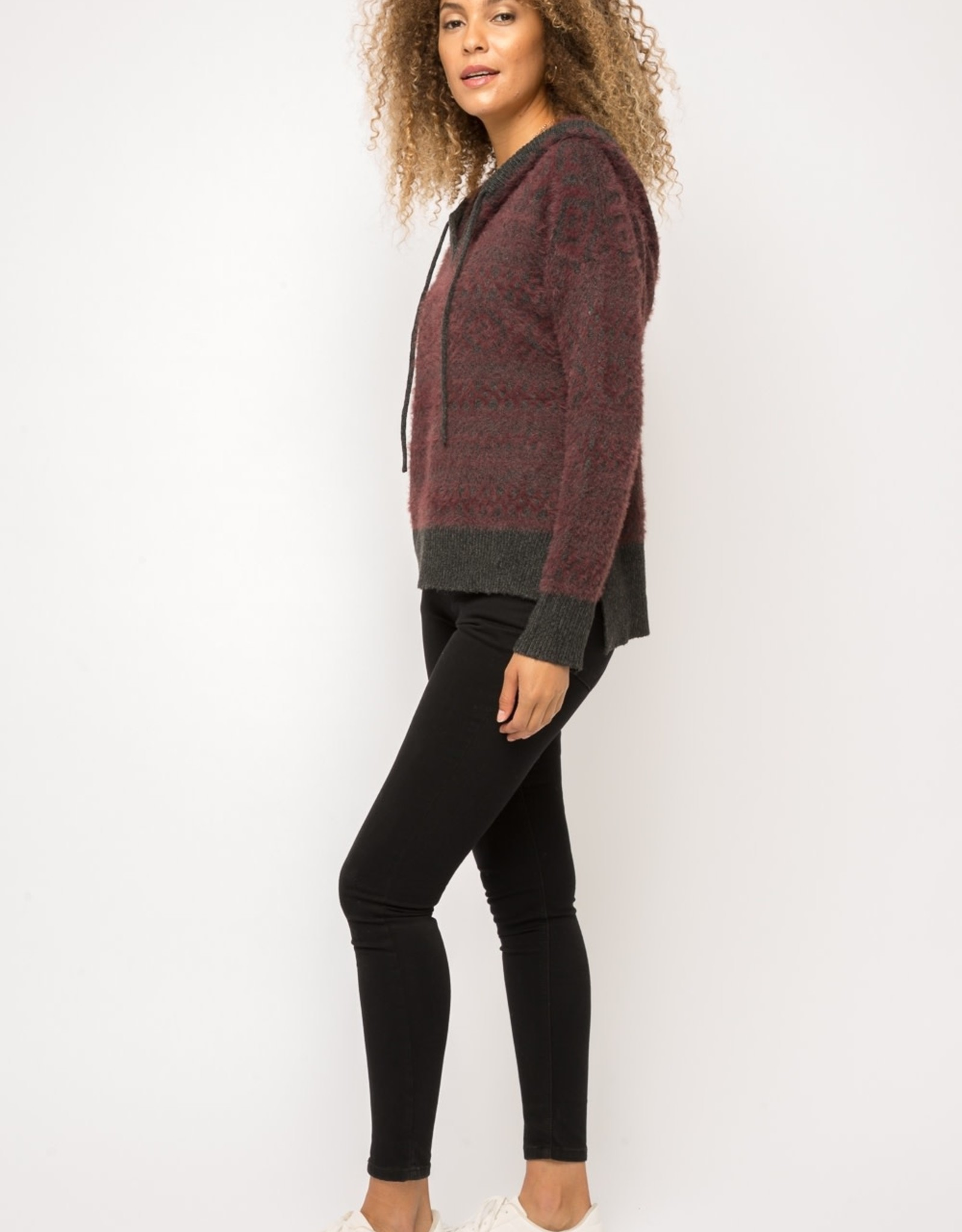 Soft hooded sweater