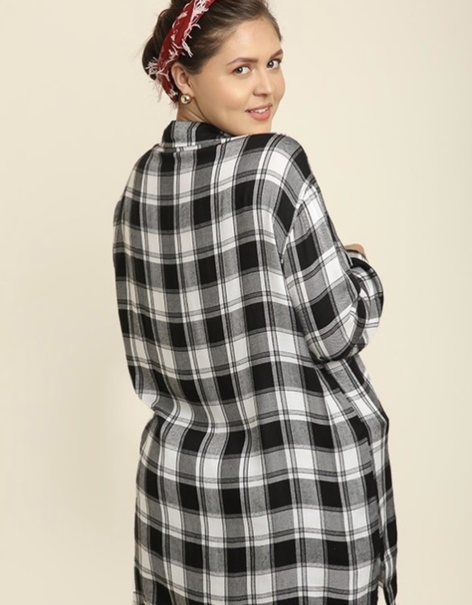 Plaid Popover Tunic