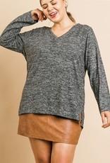 Heathered Fleece top