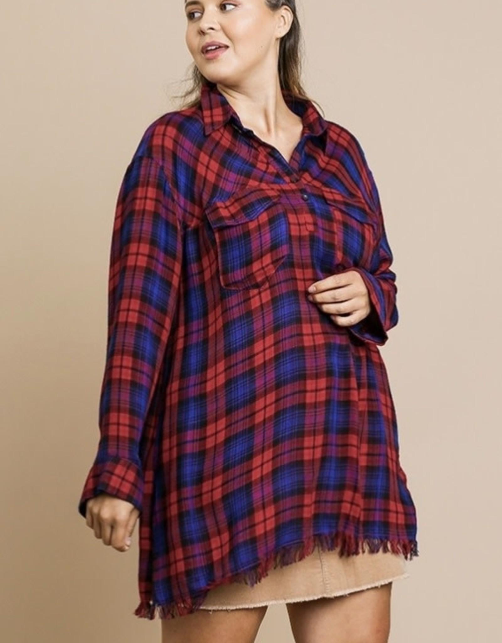 Cozy plaid tunic