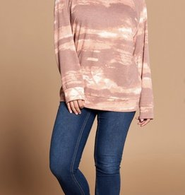 French terry knit sweater