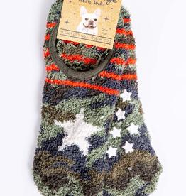 PJ Salvage Camo star socks