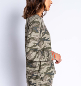 PJ Salvage Cozy Camo top