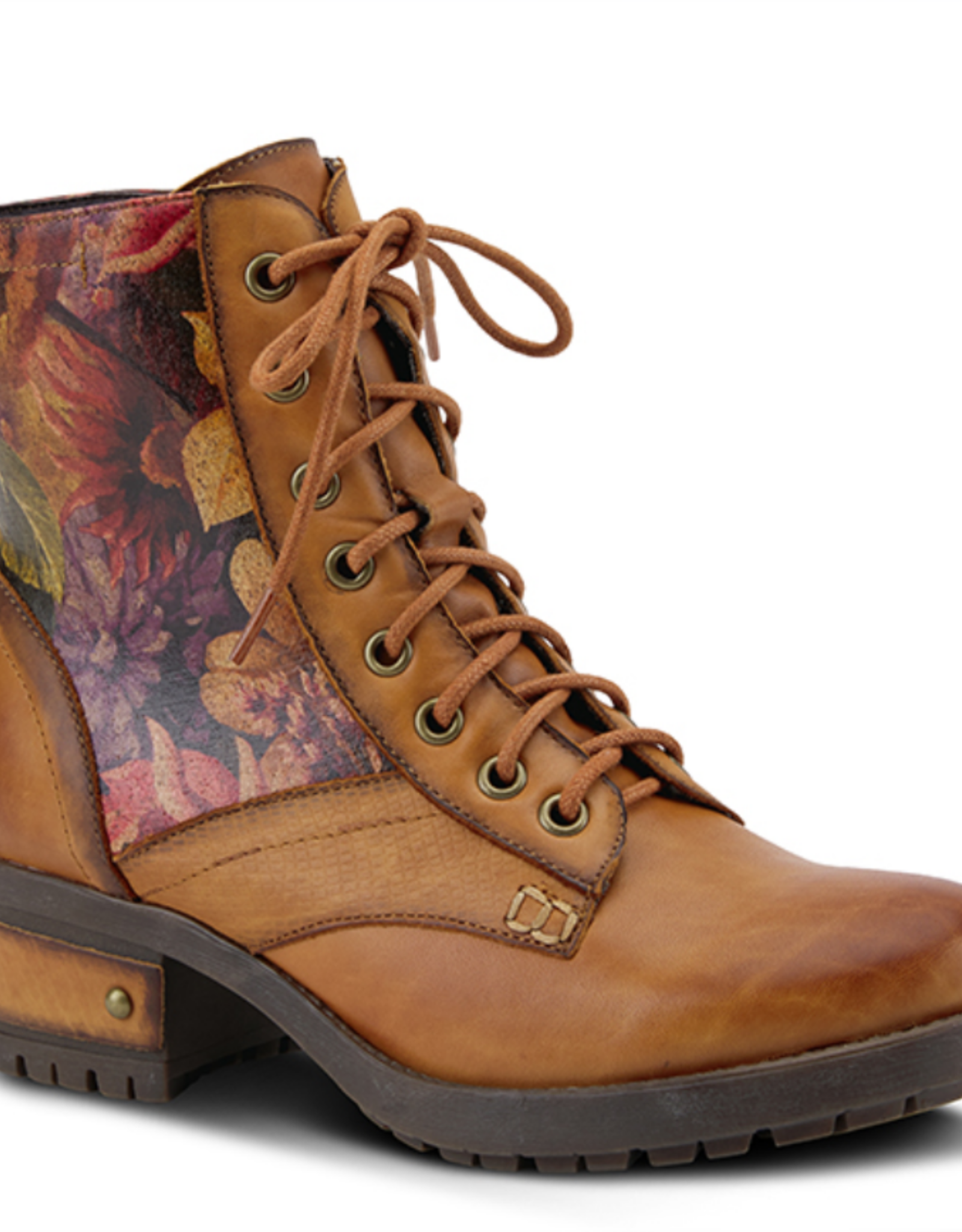 L'Artiste Marty Camel leather boot