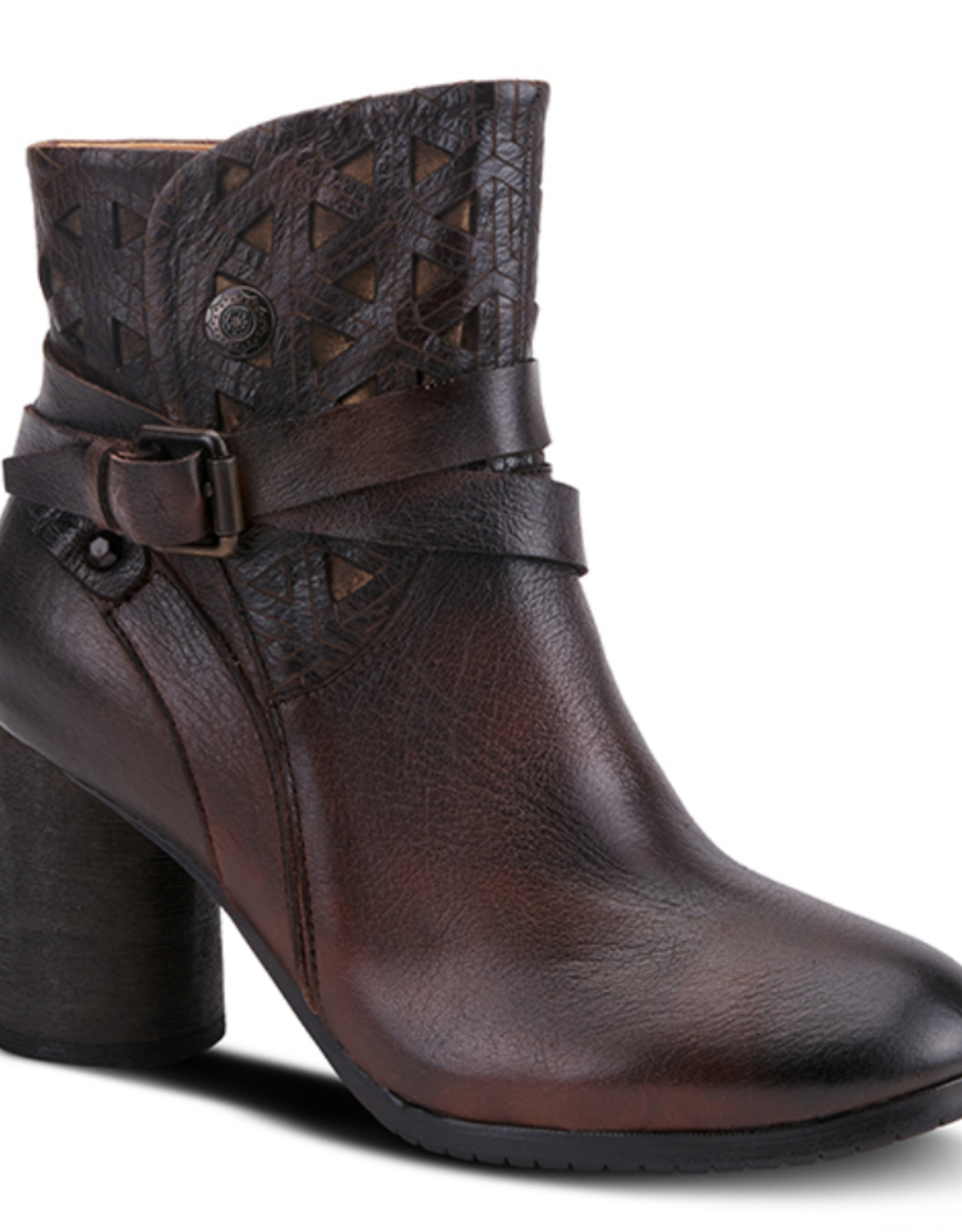 Madonna brown leather boot