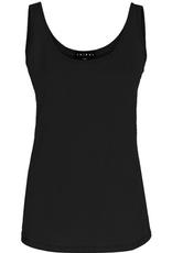 Basic cotton tank top- black