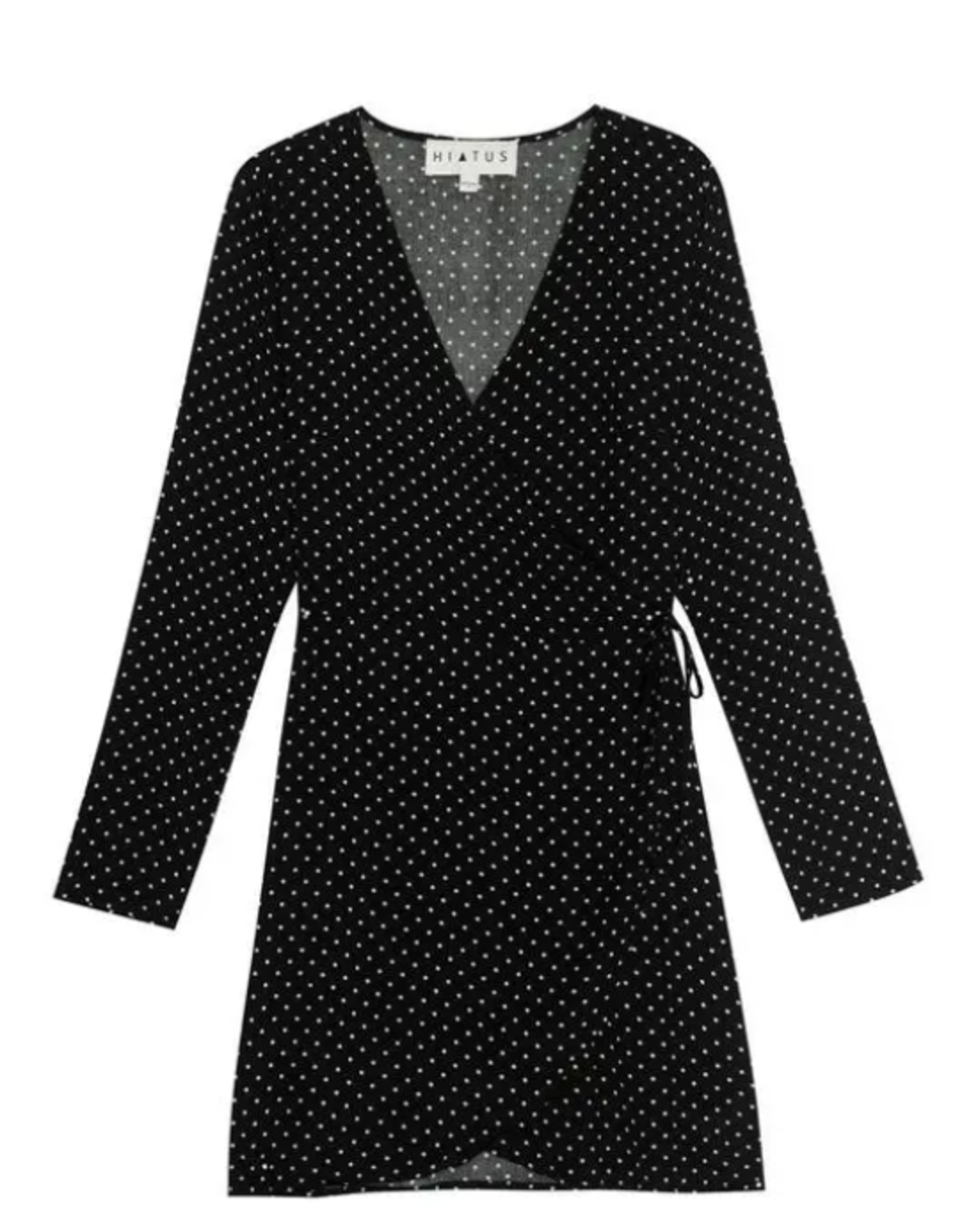 Bobeau Dotted wrap dress