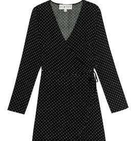 Bobeau Dotted wrap dress