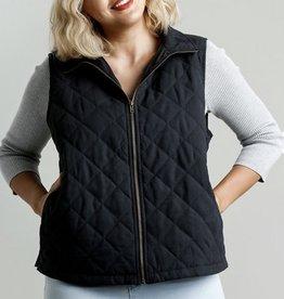 Zip front vest with pocket