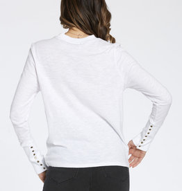 Dear John Cloud top with forearm buttons
