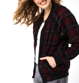 Liverpool Plaid Bomber Jacket