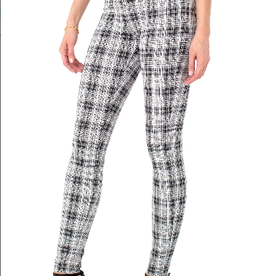 Liverpool Gia Glider Glen Plaid legging 30""