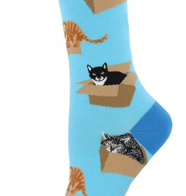 Sock Smith Cat in a Box azure socks