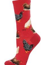 Hen House red socks