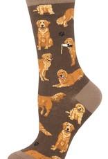 Sock Smith Golden Retrievers brown socks