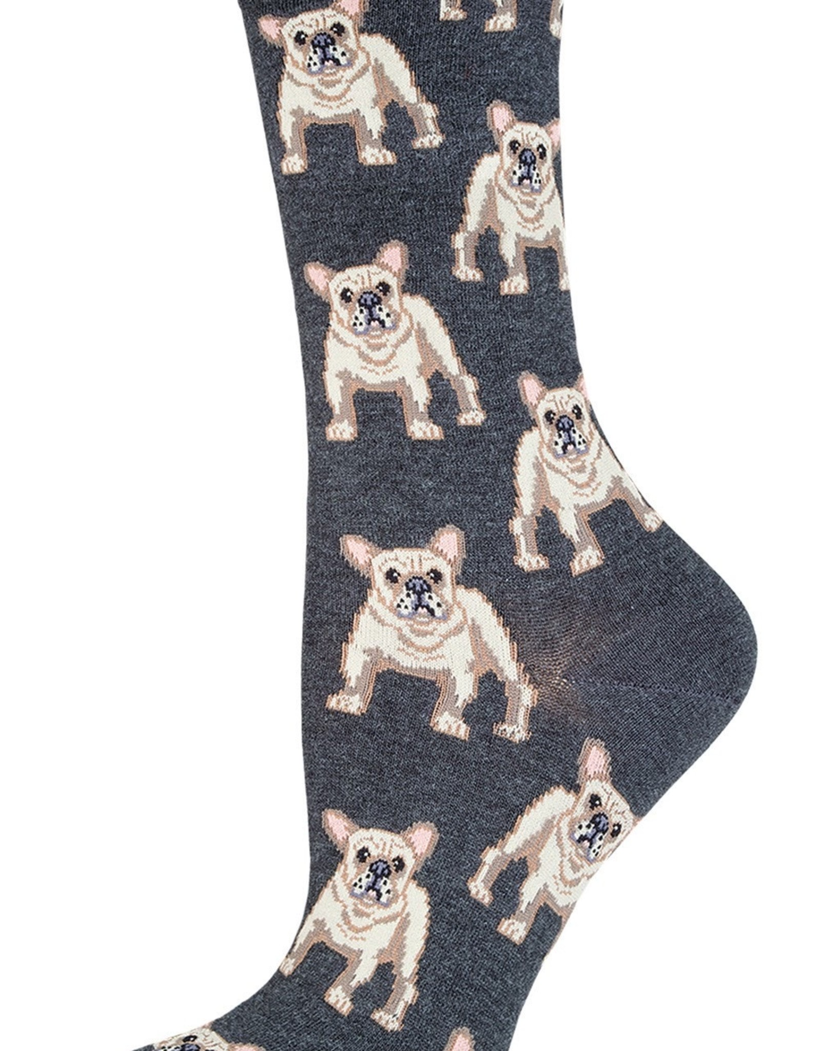 Sock Smith Frenchie charcoal heather socks