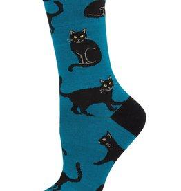 Sock Smith Black Cat blue socks