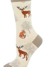 Winter Forest ivory socks