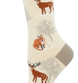Sock Smith Winter Forest ivory socks
