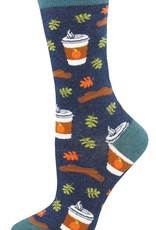 Pumpkin Spice Your Life socks- navy