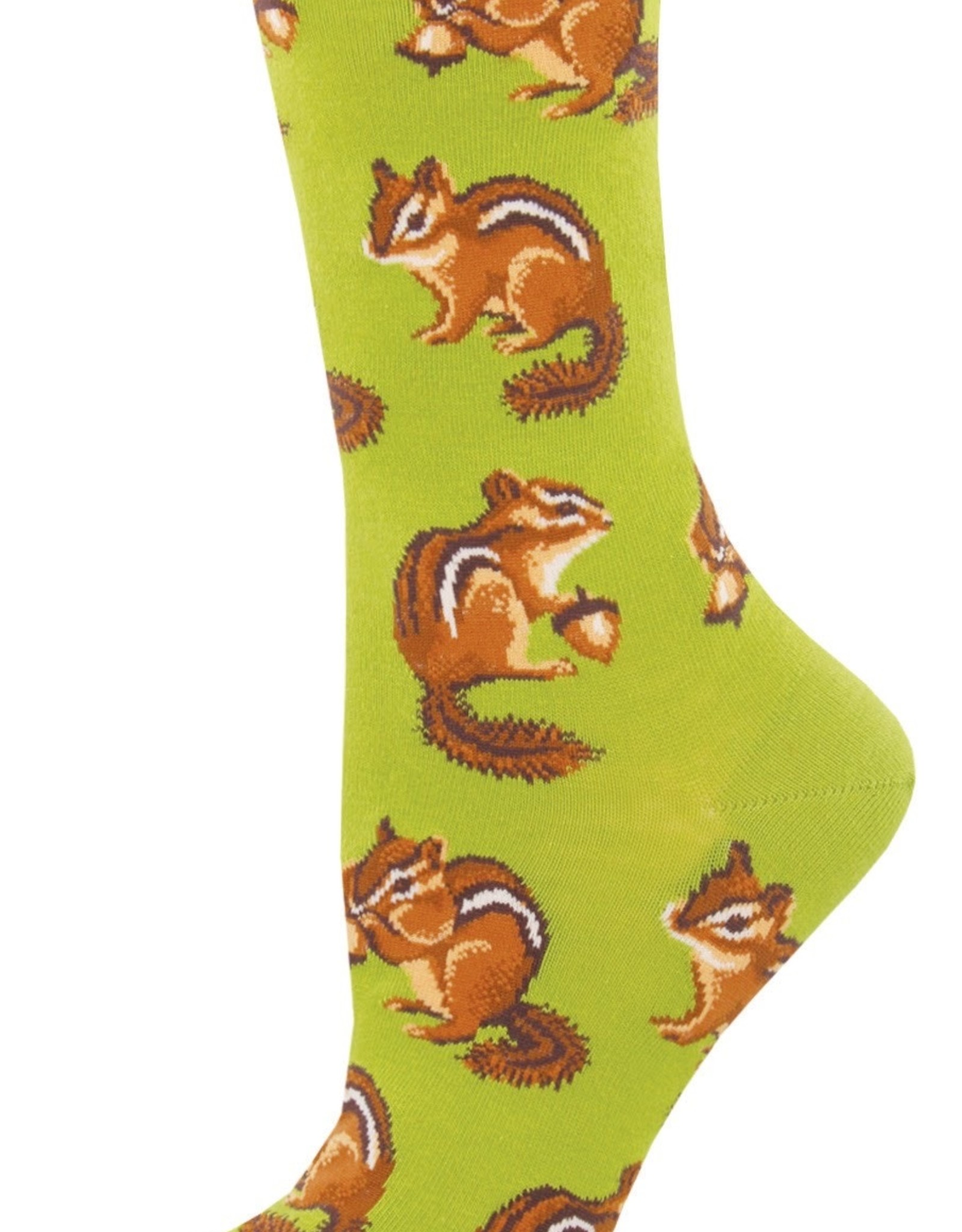 Sock Smith Chipmunk Cheeks green socks