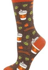 Pumpkin Spice Your Life socks- brown
