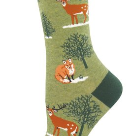 Sock Smith Winter Forest green socks