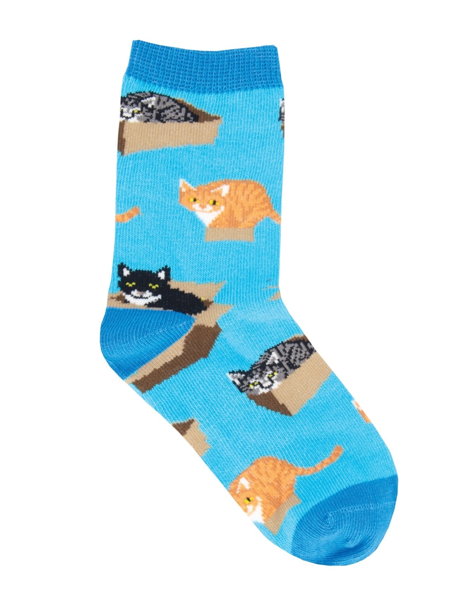 Sock Smith cats in a box socks