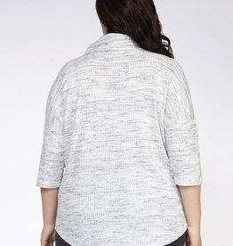 Cowl neck 3/4 sleeve