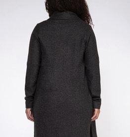 long sleeve knit cardigan-dark grey