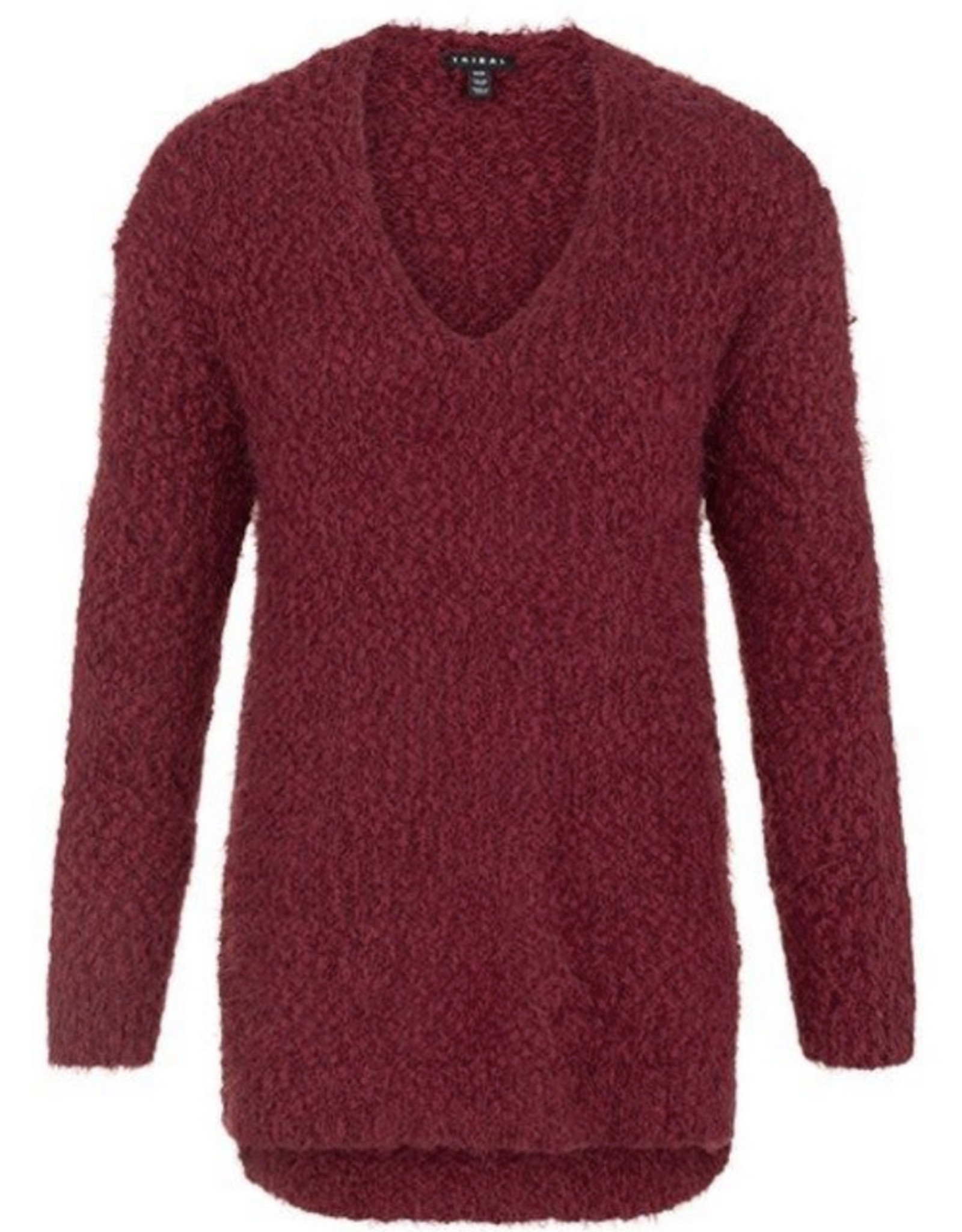 V-neck sweater-Cabernet
