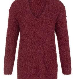 V-neck sweater-Cabernet
