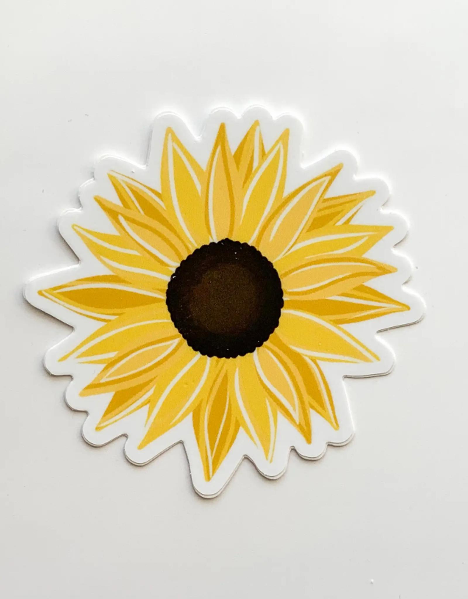 Sunflower waterproof sticker