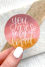 You Are Loved waterproof sticker