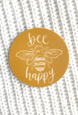 Bee Happy waterproof sticker