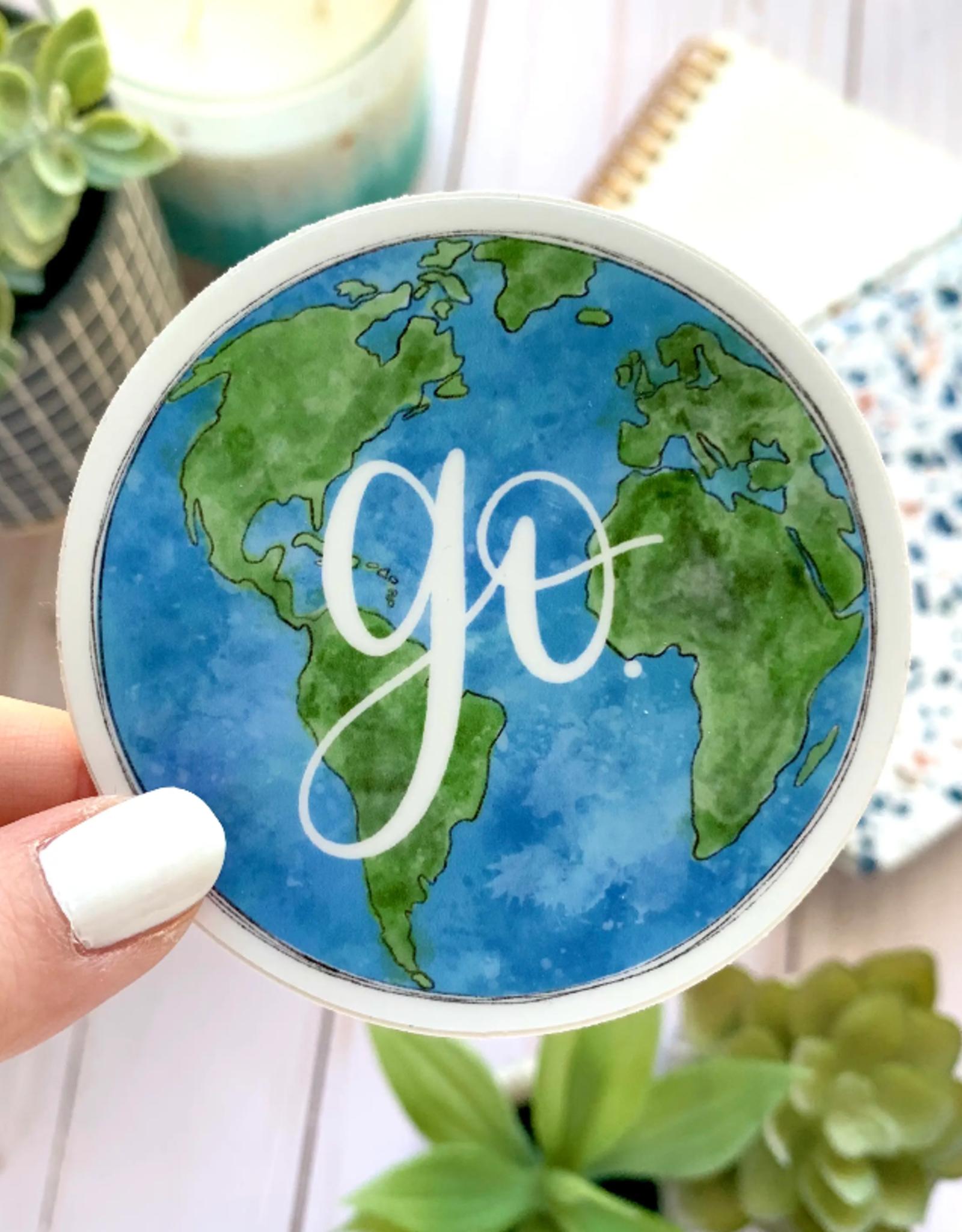 Go Globe waterproof sticker