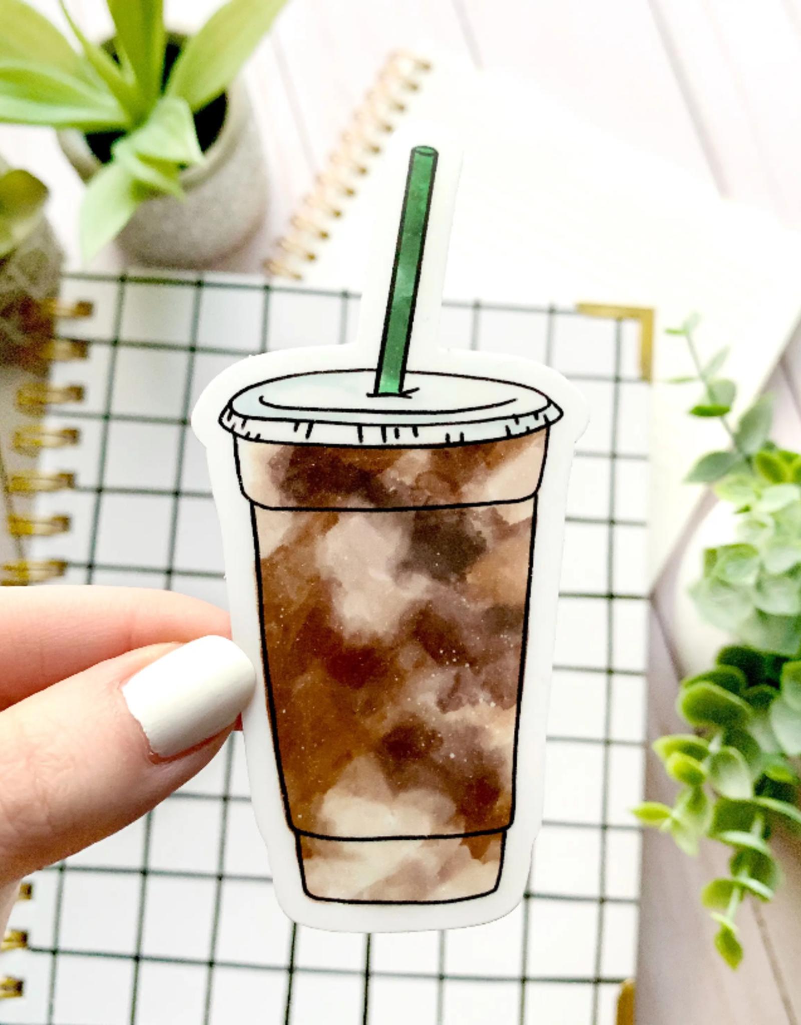 Iced Coffee waterproof sticker