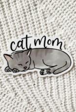 Cat mom waterproof sticker