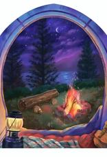 sticker art Tent and Fire Sticker
